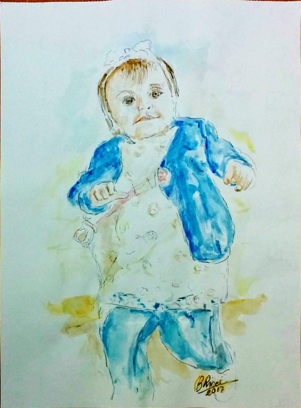La nipotina Anna acquarello 2017